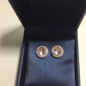 NWT Rose Cryatal stud earrings